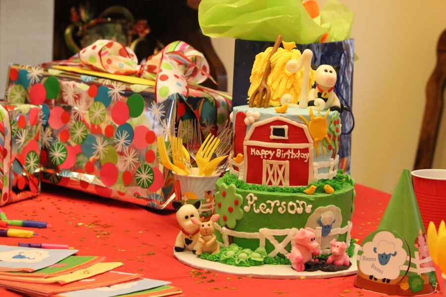 Barnyard First Birthday on Cake Central