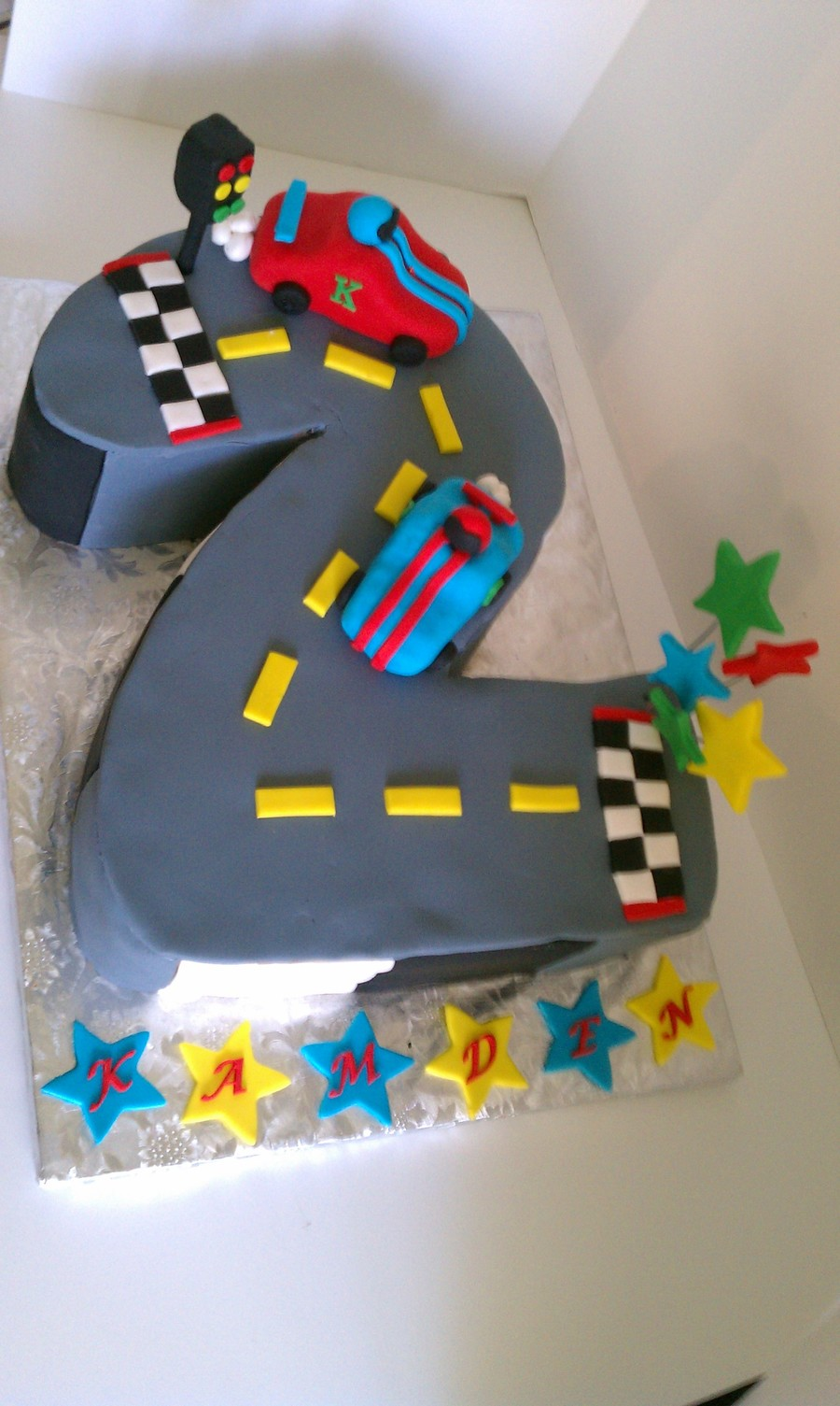 Race Car #2 Birthday Cake on Cake Central