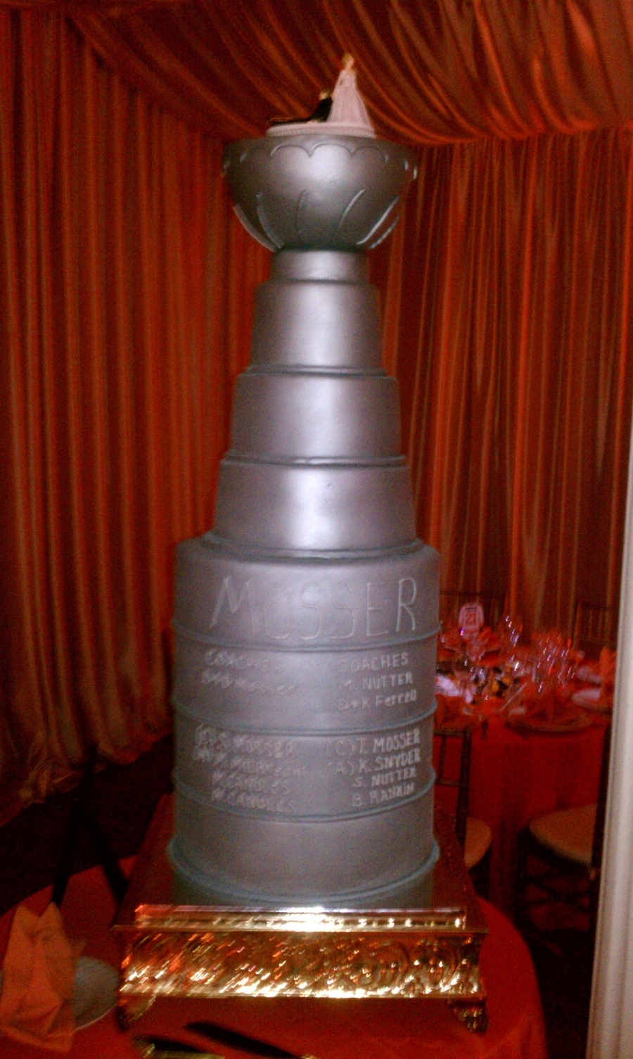 how to make a stanley cup wedding cake stanley cup wedding cakecentral 15860