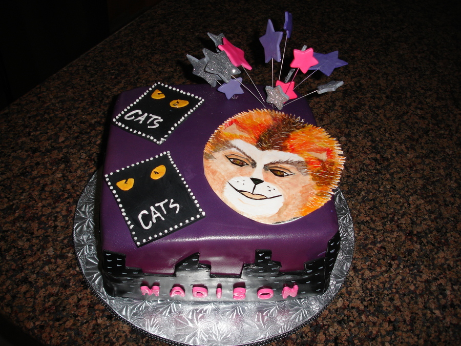 12 Year Old Birthday Cake For Young Lady Who Loved The Play Cats
