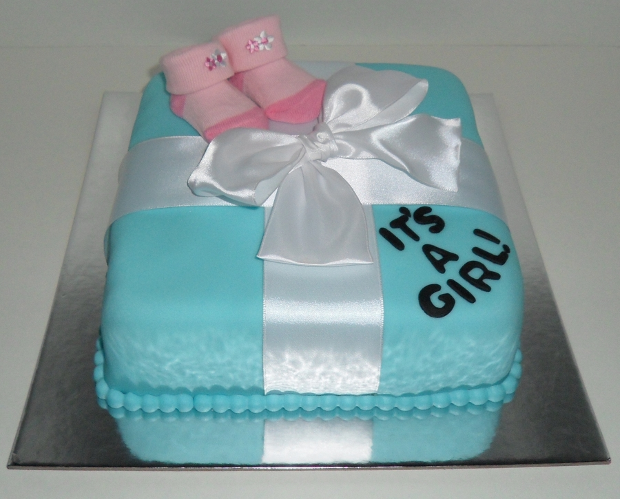 Tiffany's Box Baby Shower on Cake Central