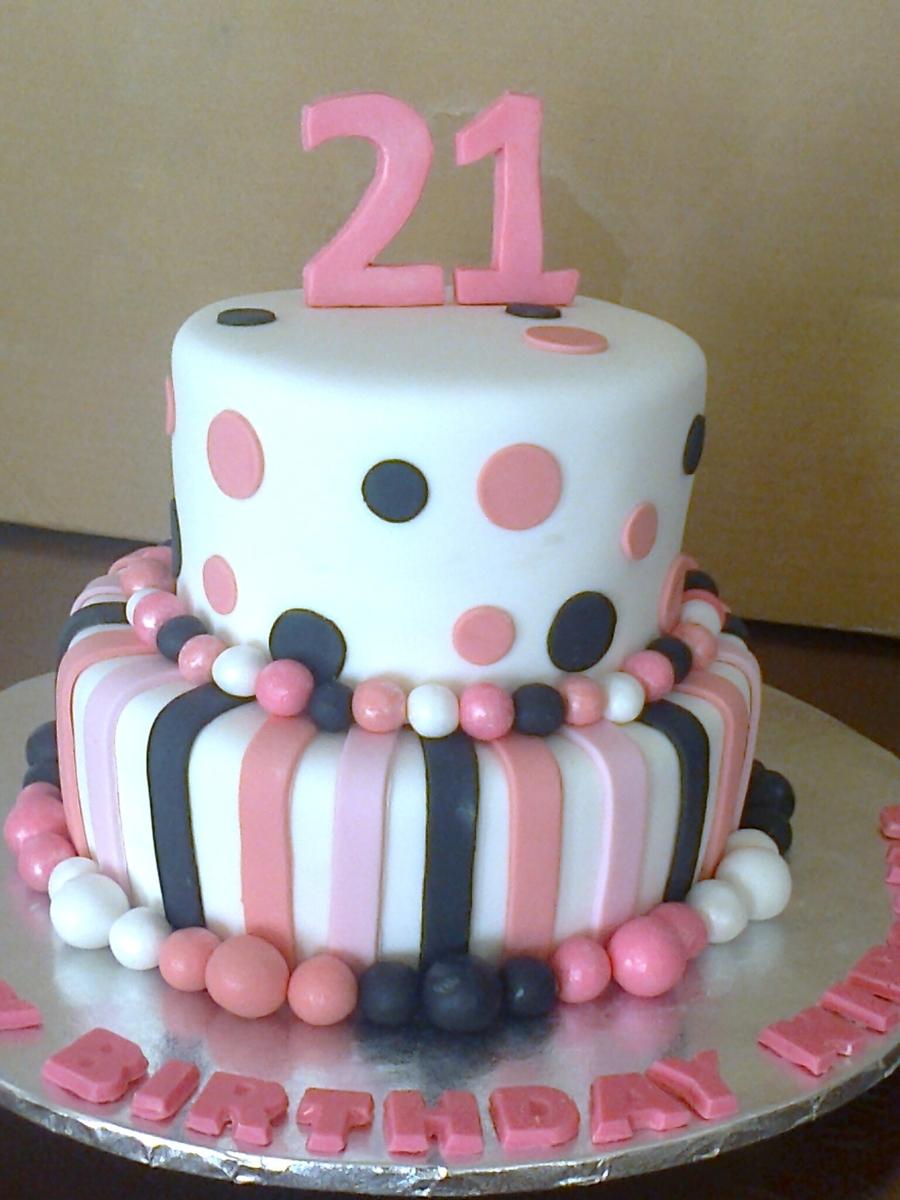 21St Birthday Cake - CakeCentral com