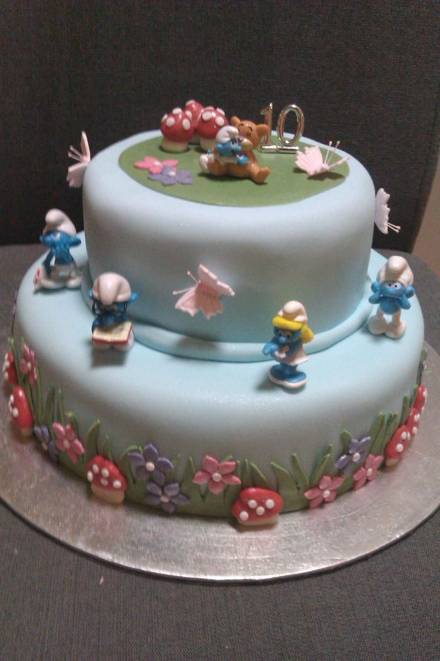 Smurf Cake Recipe