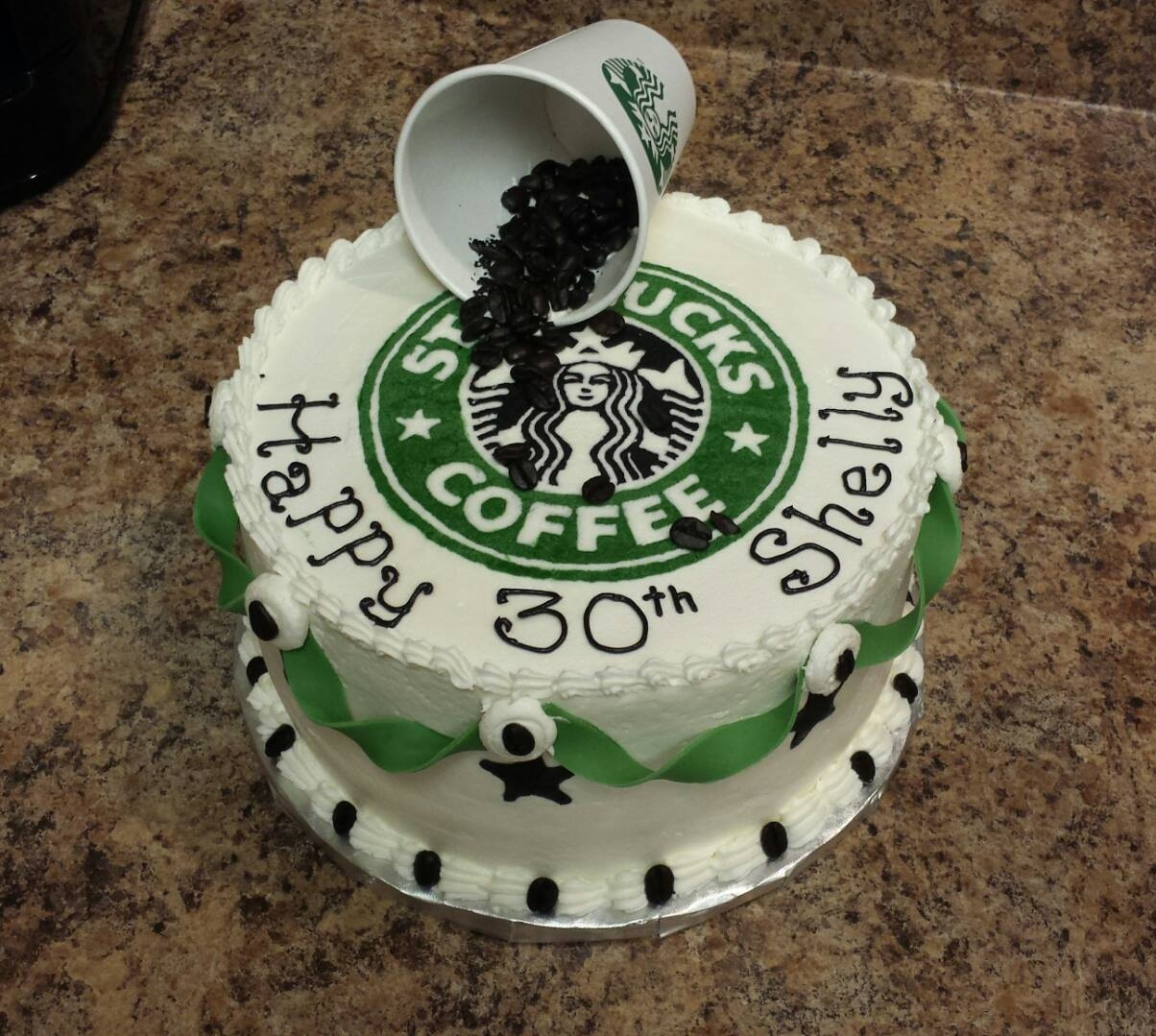 30Th Starbucks Birthday Cake CakeCentralcom