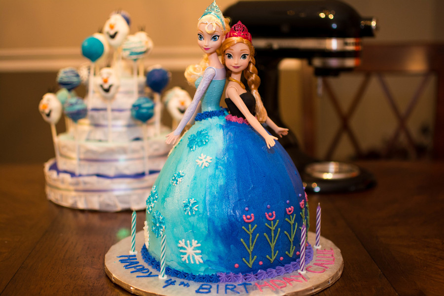 Frozen Themed Doll Cake Cakecentral Com
