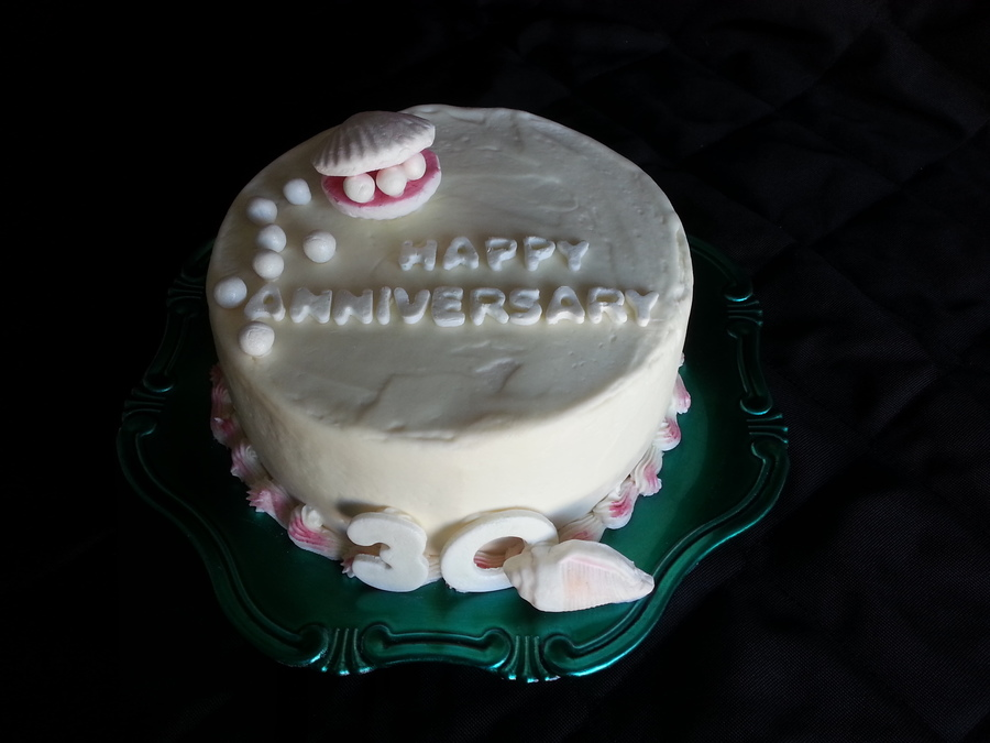 Seashell Anniversary  on Cake Central
