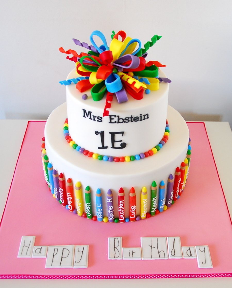 Teacher Birthday Cake CakeCentralcom