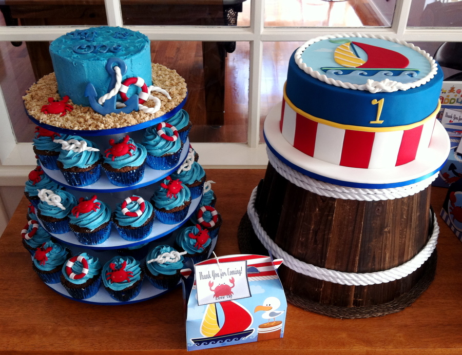 Nautical First Birthday - CakeCentral.com
