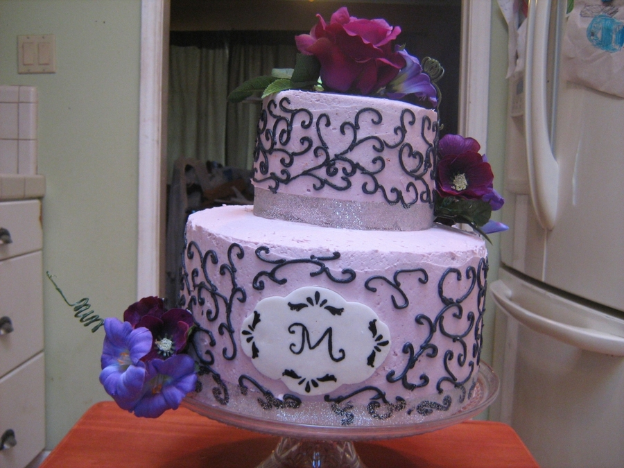 Cool Purple Black And Silver Birthday Cake Cakecentral Com Funny Birthday Cards Online Ioscodamsfinfo