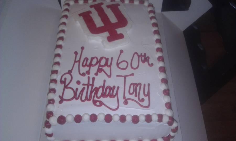 Indiana Hoosiers Birthday Cake on Cake Central