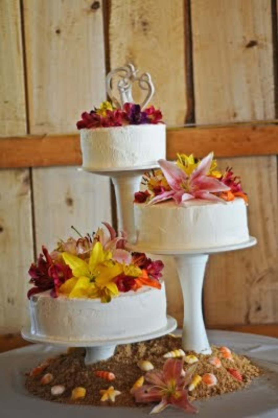 Luau Wedding Cake on Cake Central