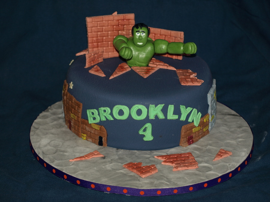Incredible Hulk For A Little Super Hero Fan on Cake Central