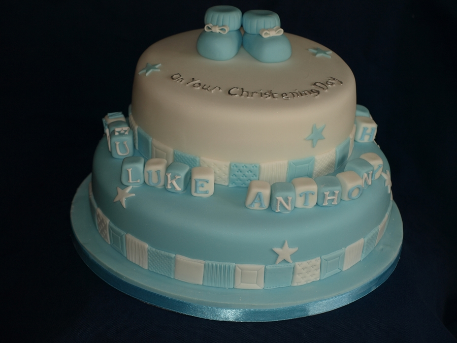 Christening Cake For The First Child Of A Colleague on Cake Central