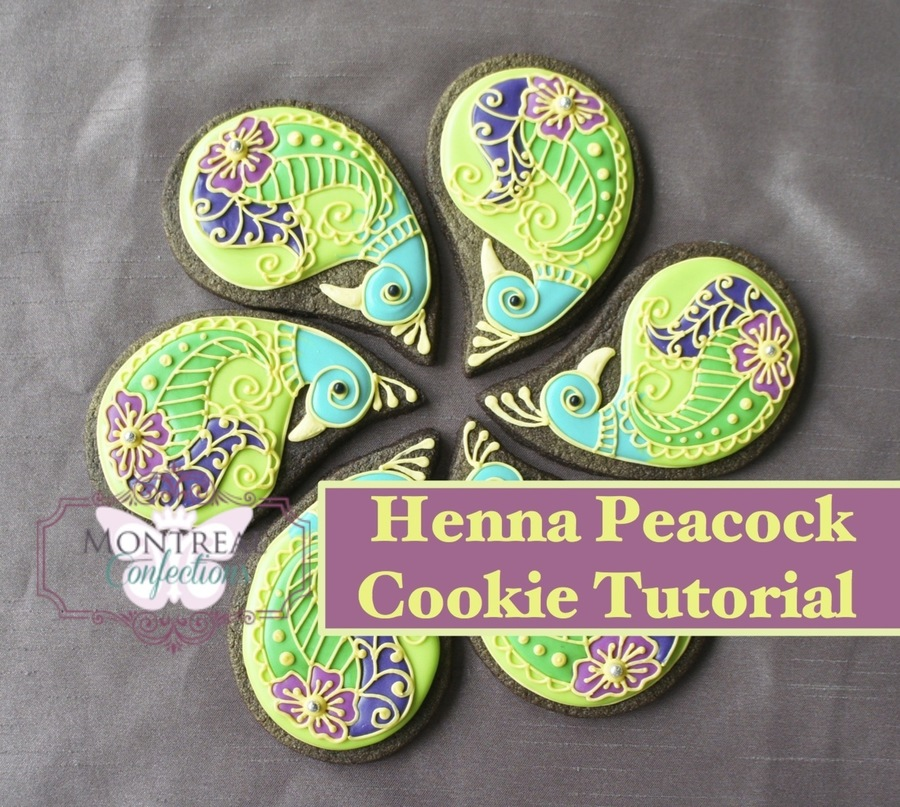 Peacock Henna Cookies  on Cake Central