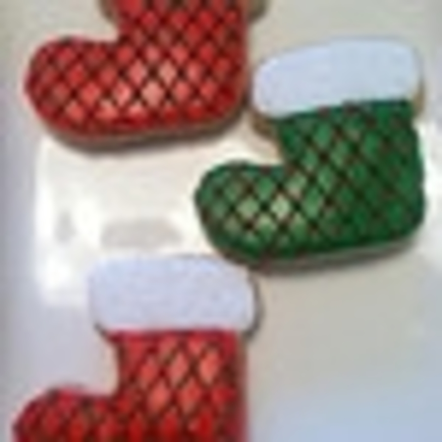 Christmas Stocking Sugar Cookies Cakecentral Com
