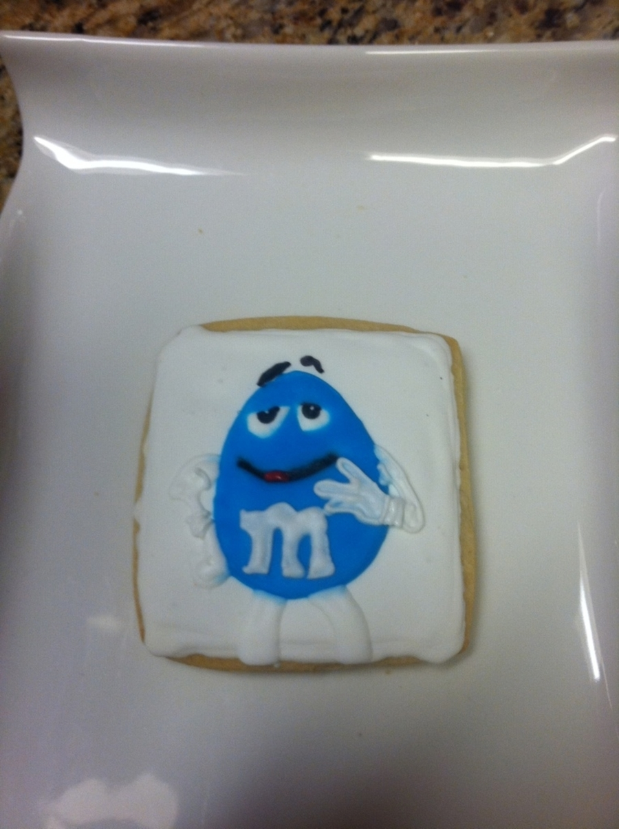 Blue M&m Cookie on Cake Central