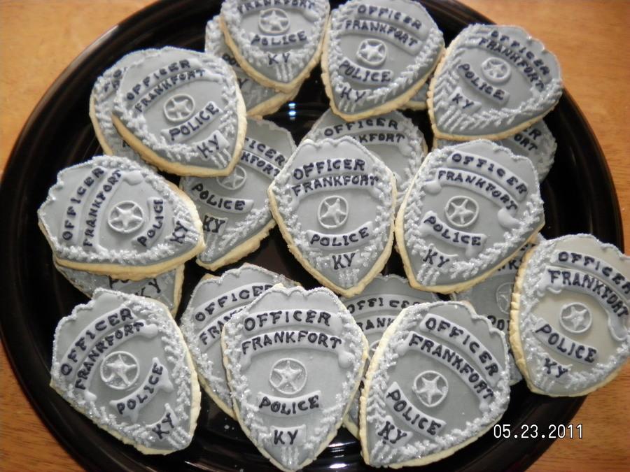 Police Officer Badge Cake