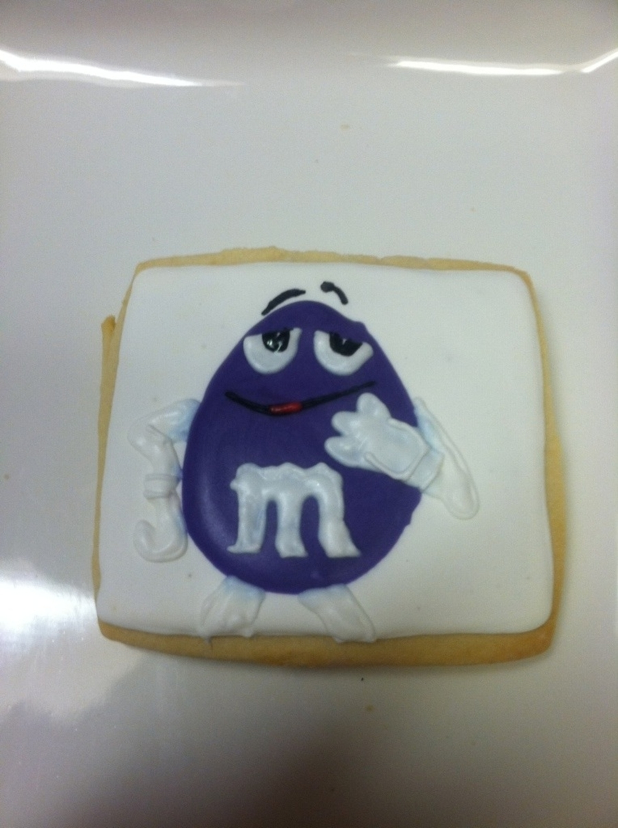 Purple M & M Sugar Cookie on Cake Central