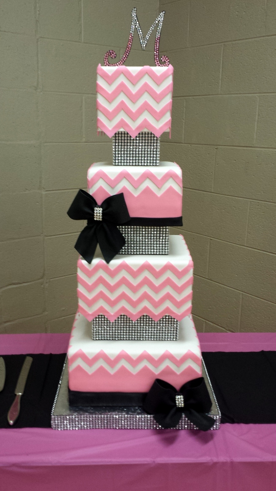 Chevron Themed Cake For My Daughters Birthday A Big Thank