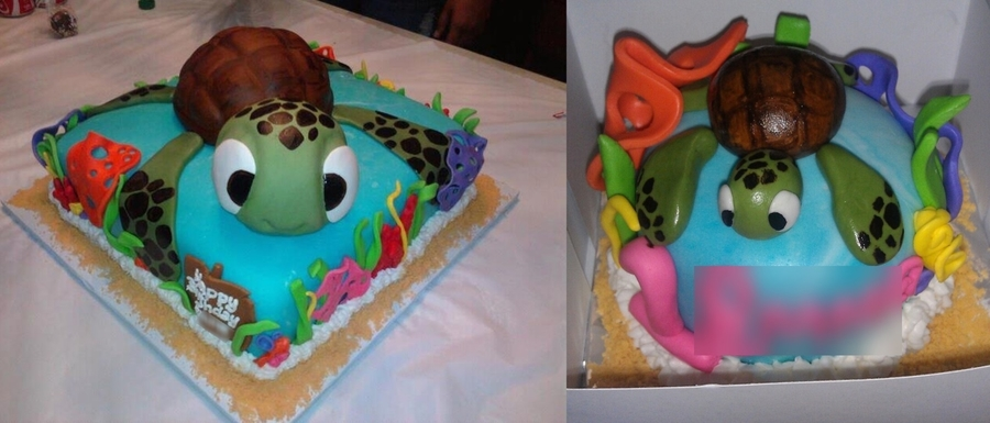 Turtle Birthday Cake on Cake Central