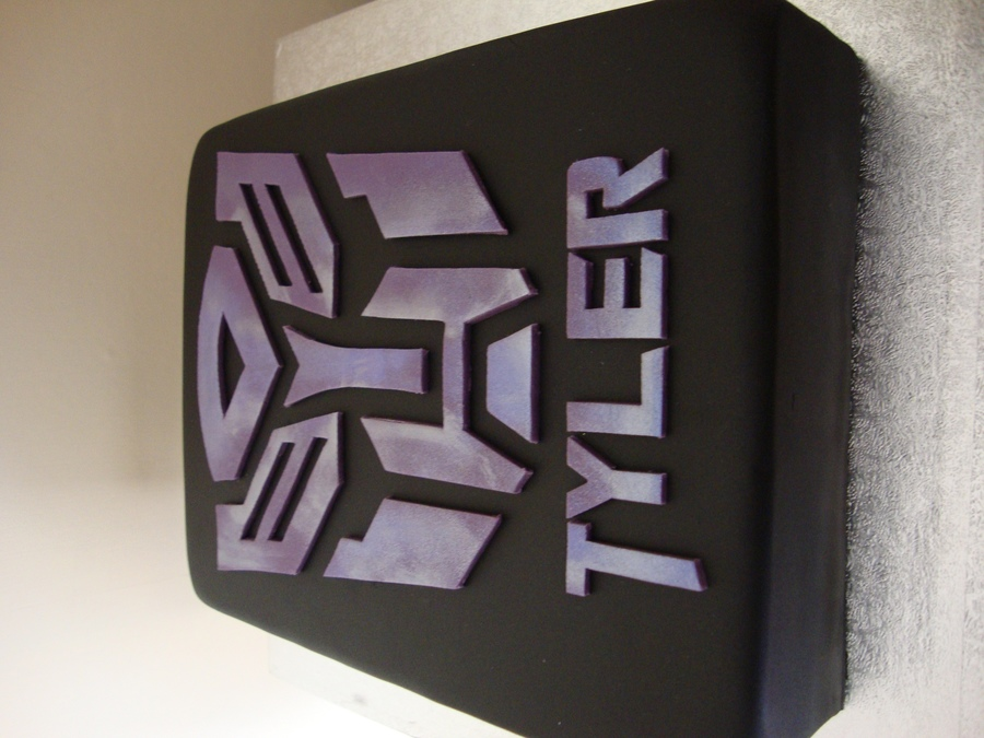 Transformers Logo Cake on Cake Central