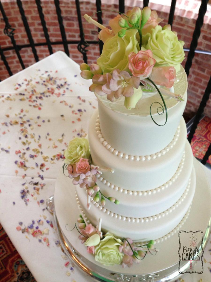 Antique Tea Cup Wedding Cake Cakecentral Com