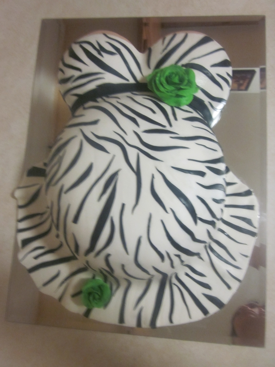Safari Themed Belly Cake on Cake Central