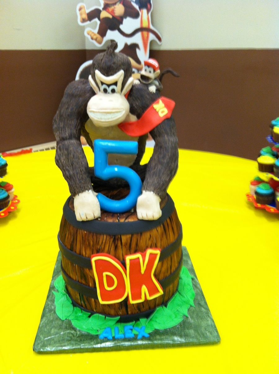 Awesome Donkey Kong Cake Cakecentral Com Funny Birthday Cards Online Amentibdeldamsfinfo