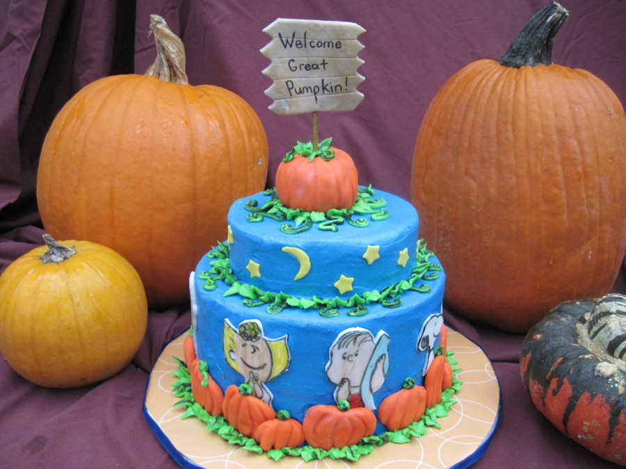 It's The Great Pumpkin Charlie Brown! - CakeCentral.com
