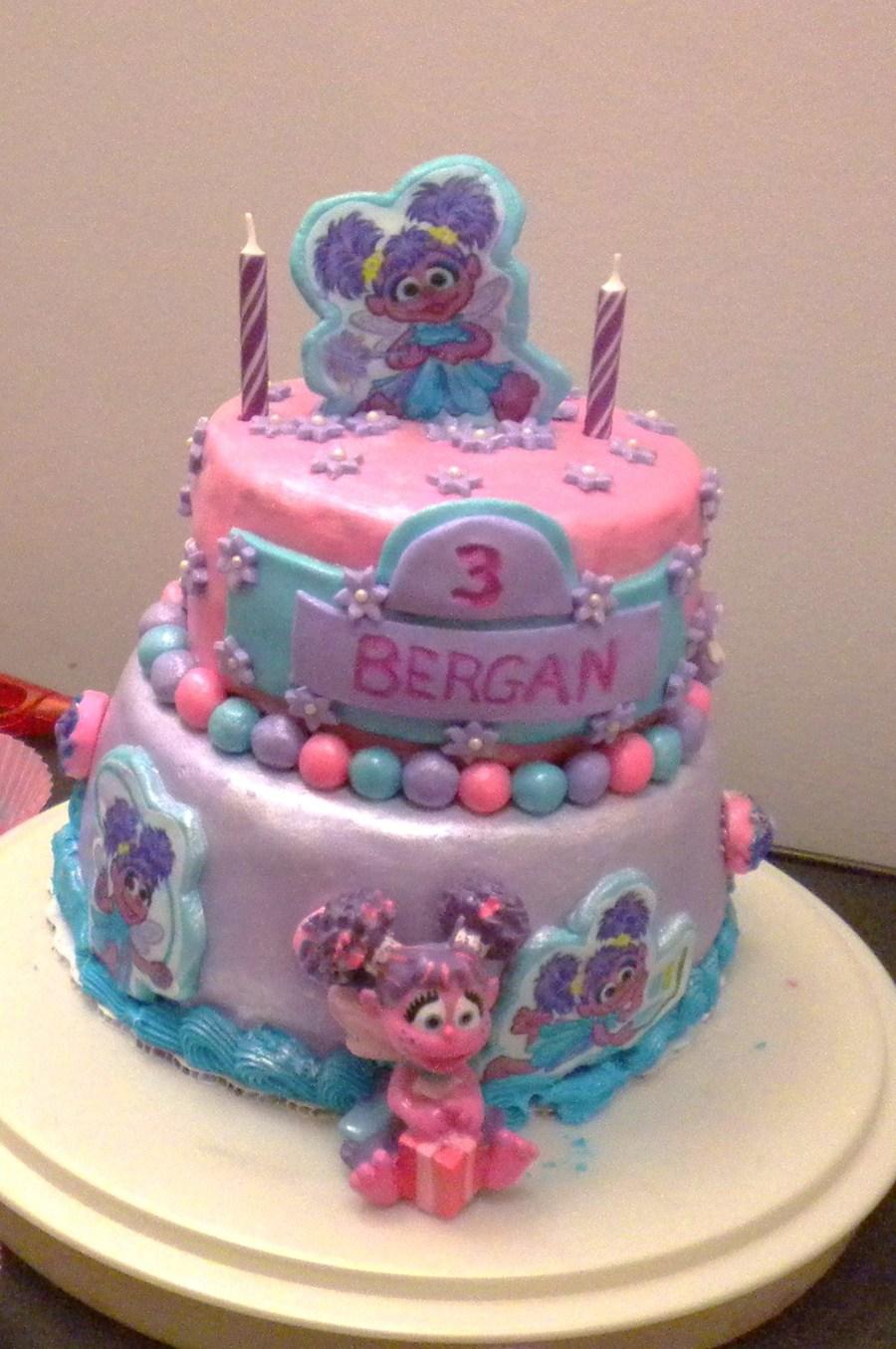 Pleasing Abby Cadabby Birthday Cake Cakecentral Com Personalised Birthday Cards Veneteletsinfo