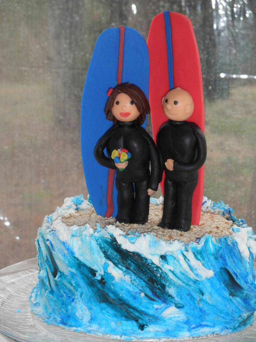 Andrew's Surfer Grooms Cake on Cake Central