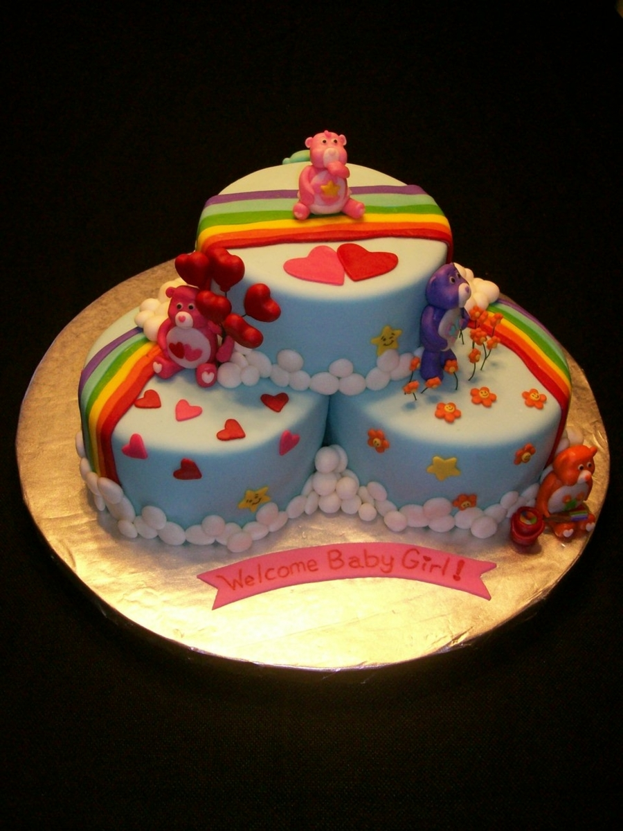 Care Bear Baby Shower Cakes