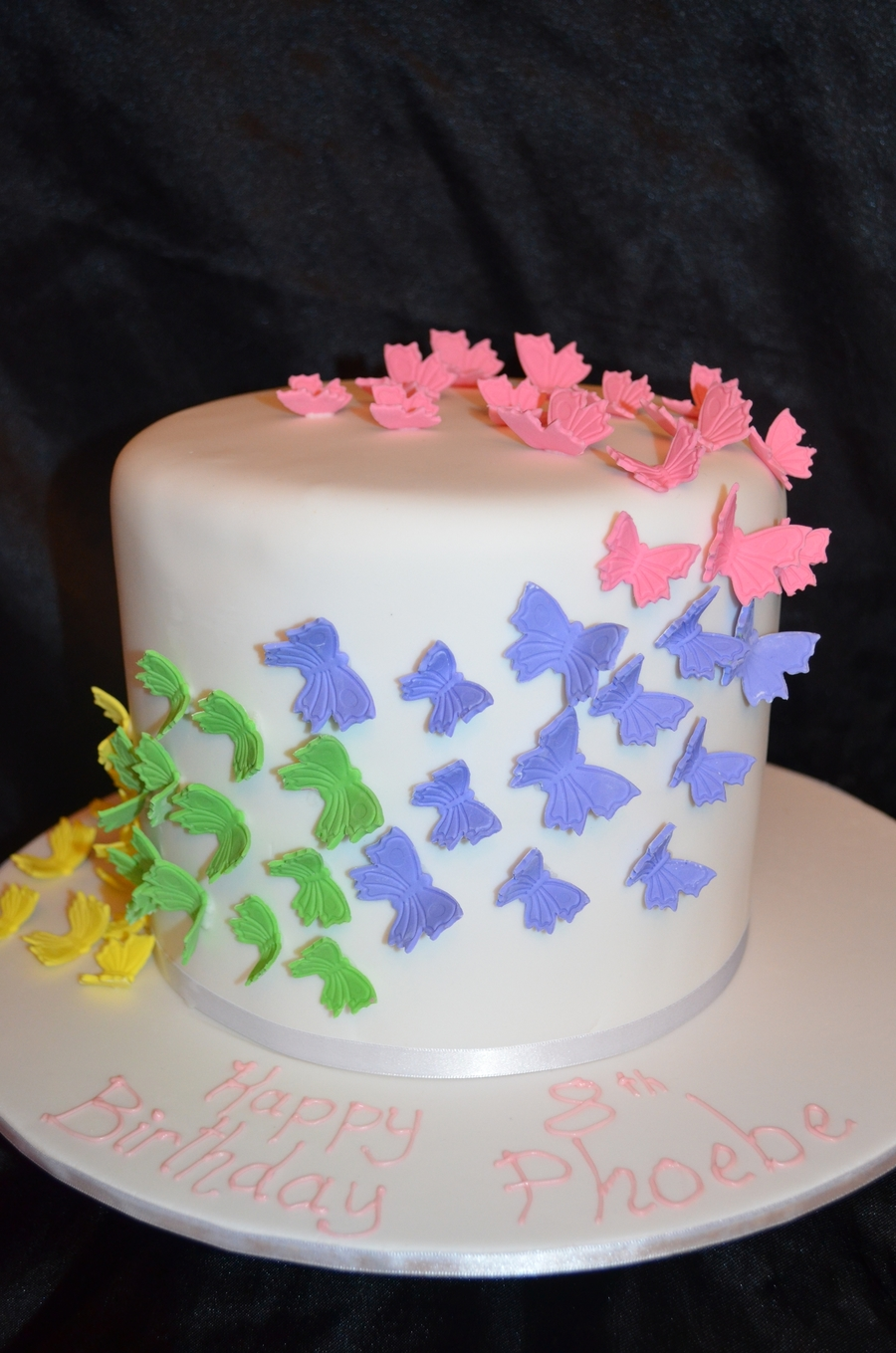 Rainbow Butterfly Cake on Cake Central