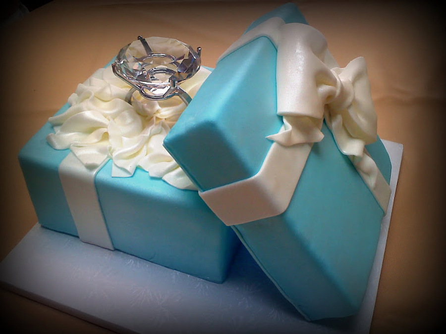 Engagement Ring Box on Cake Central