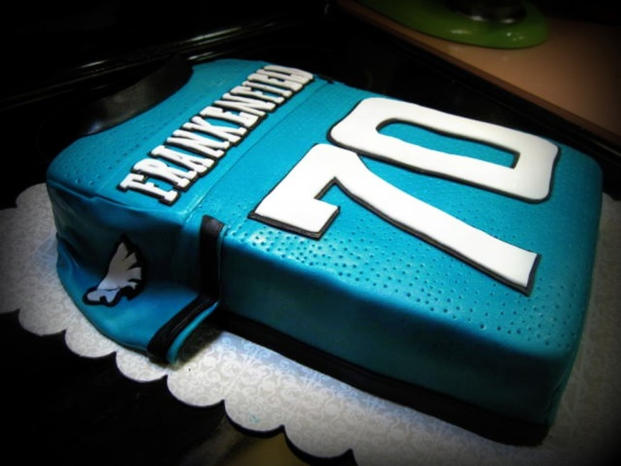Cool Philadelphia Eagles Jersey Cakecentral Com Funny Birthday Cards Online Elaedamsfinfo