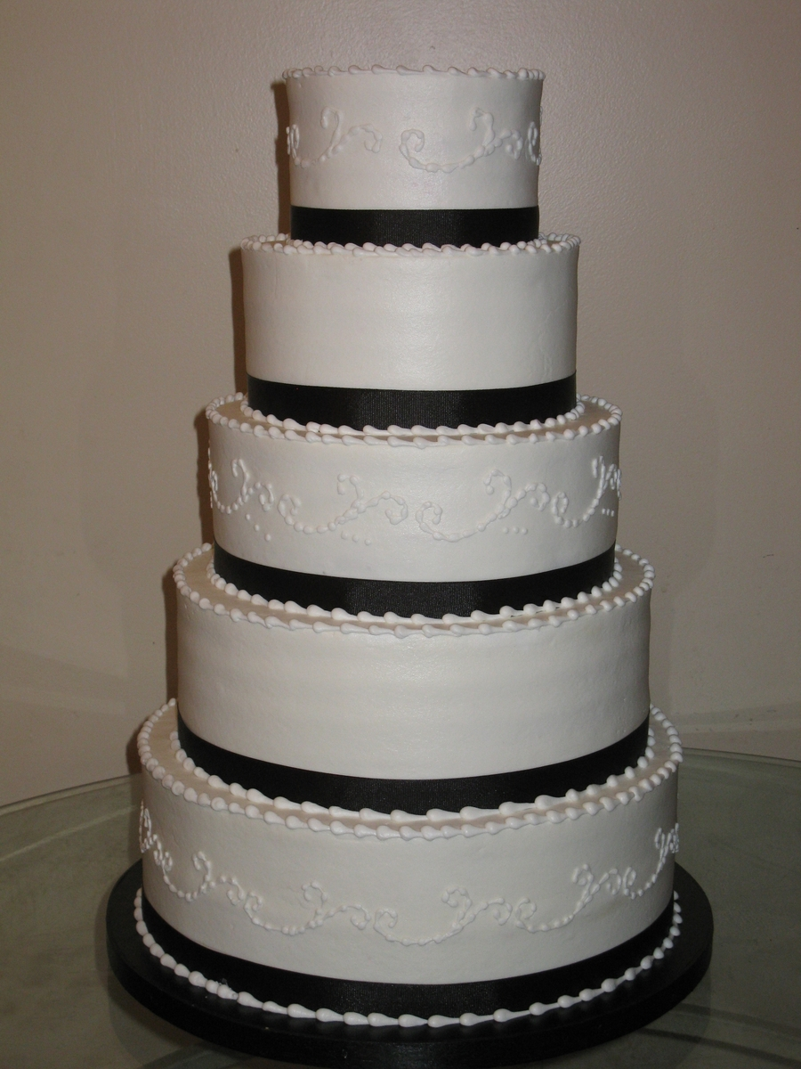 Buttercream Wedding  on Cake Central