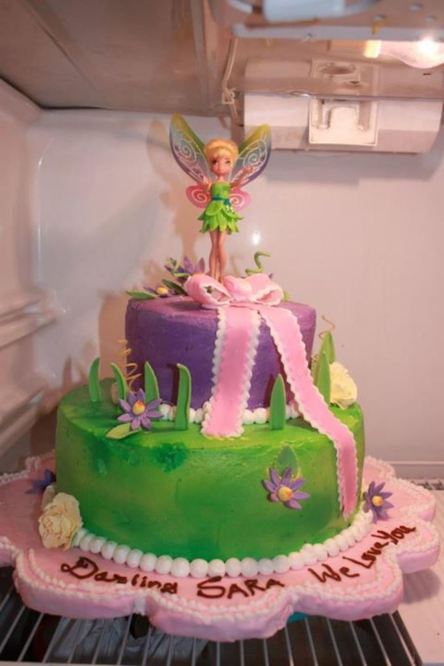 Tinkerbell Theme Cake on Cake Central