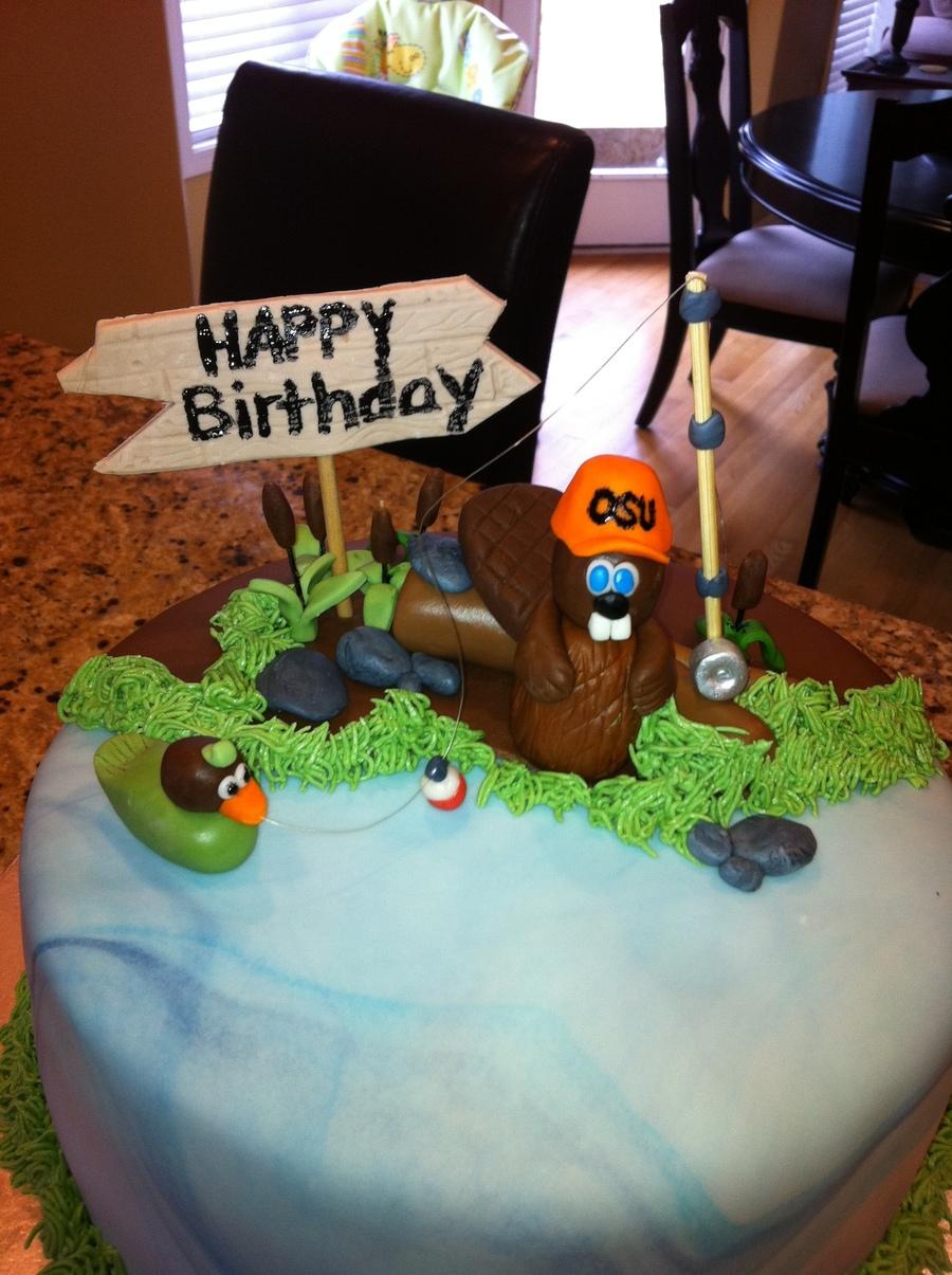 Beaver Birthday Cake