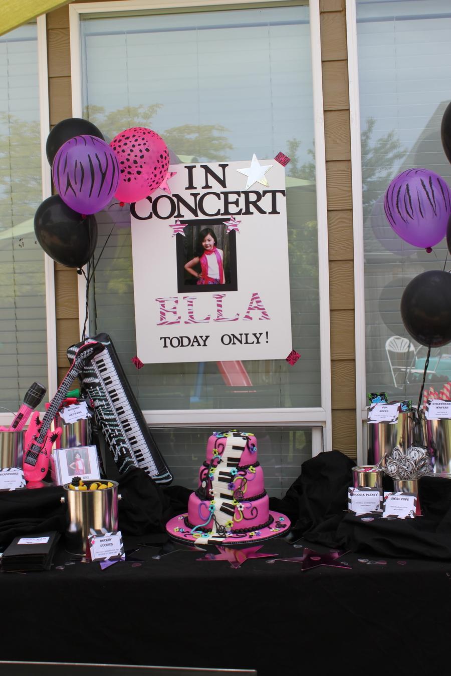 Girls Karaoke Birthday Cake Cakecentral Com