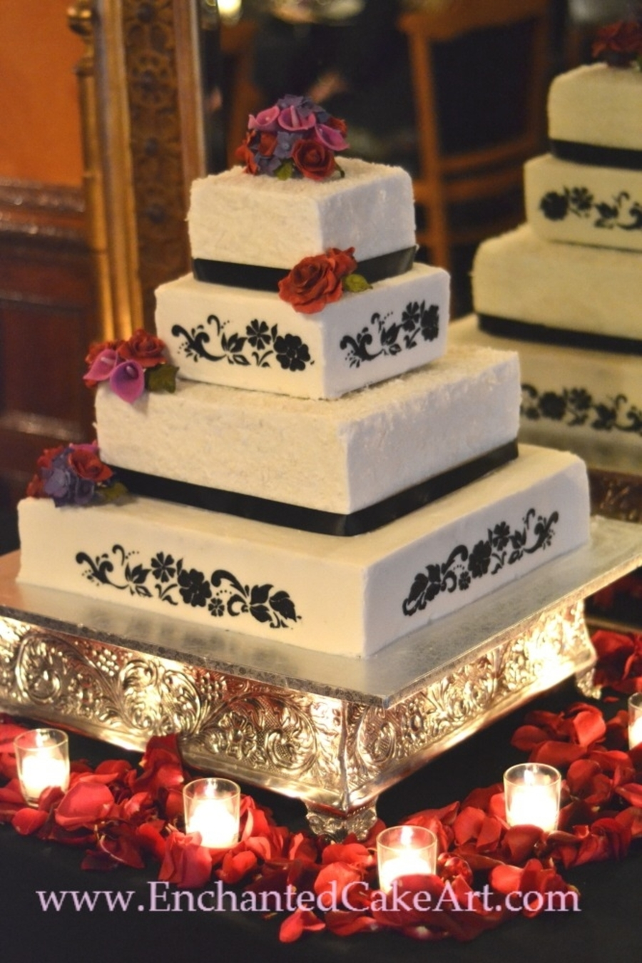 Romantic Wedding Cake... on Cake Central
