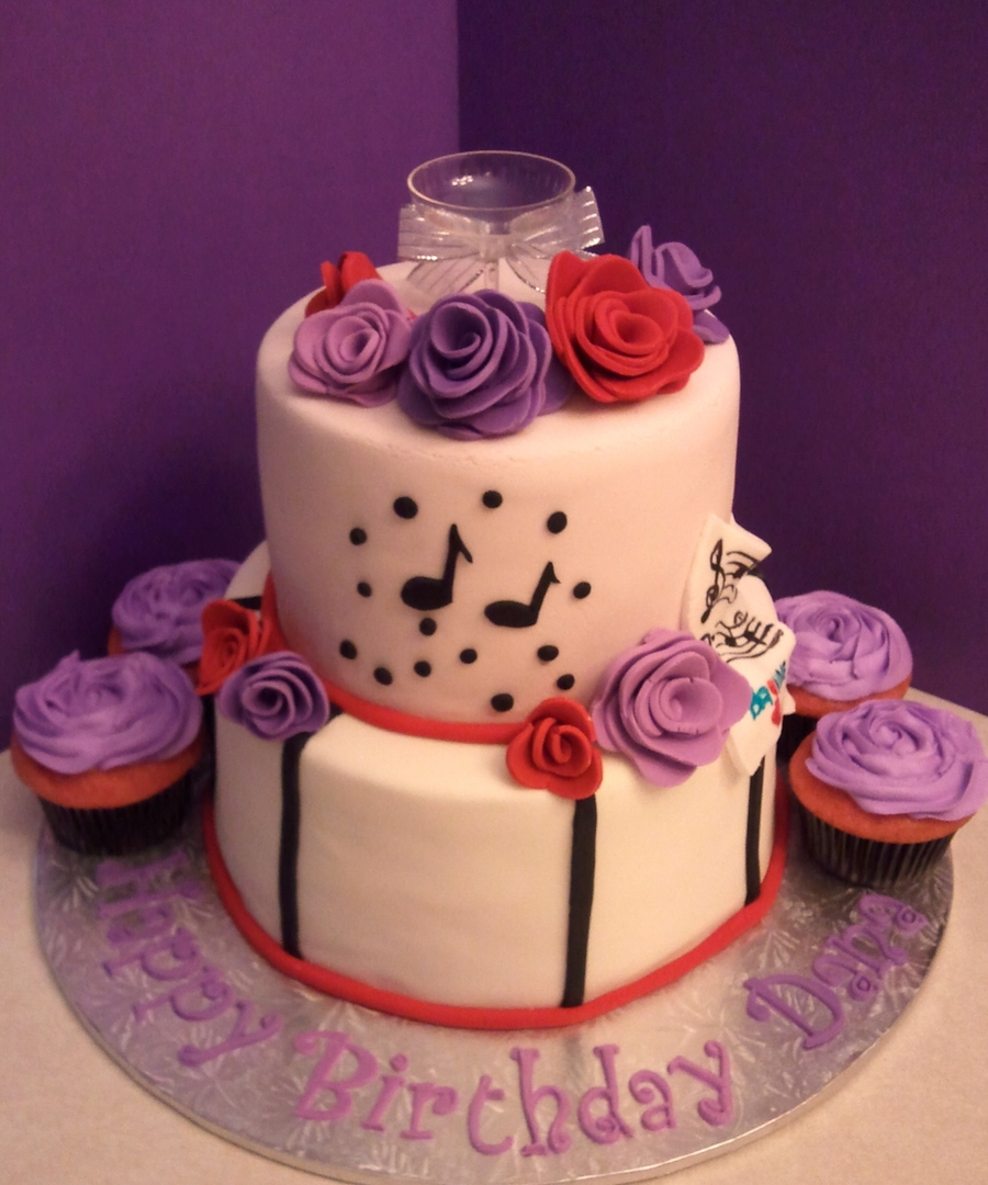 Lavender Rose Cake... on Cake Central