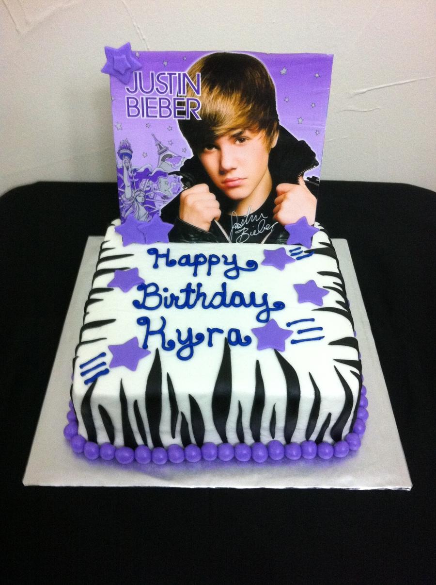Remarkable Justin Bieber Birthday Cake Cakecentral Com Funny Birthday Cards Online Elaedamsfinfo