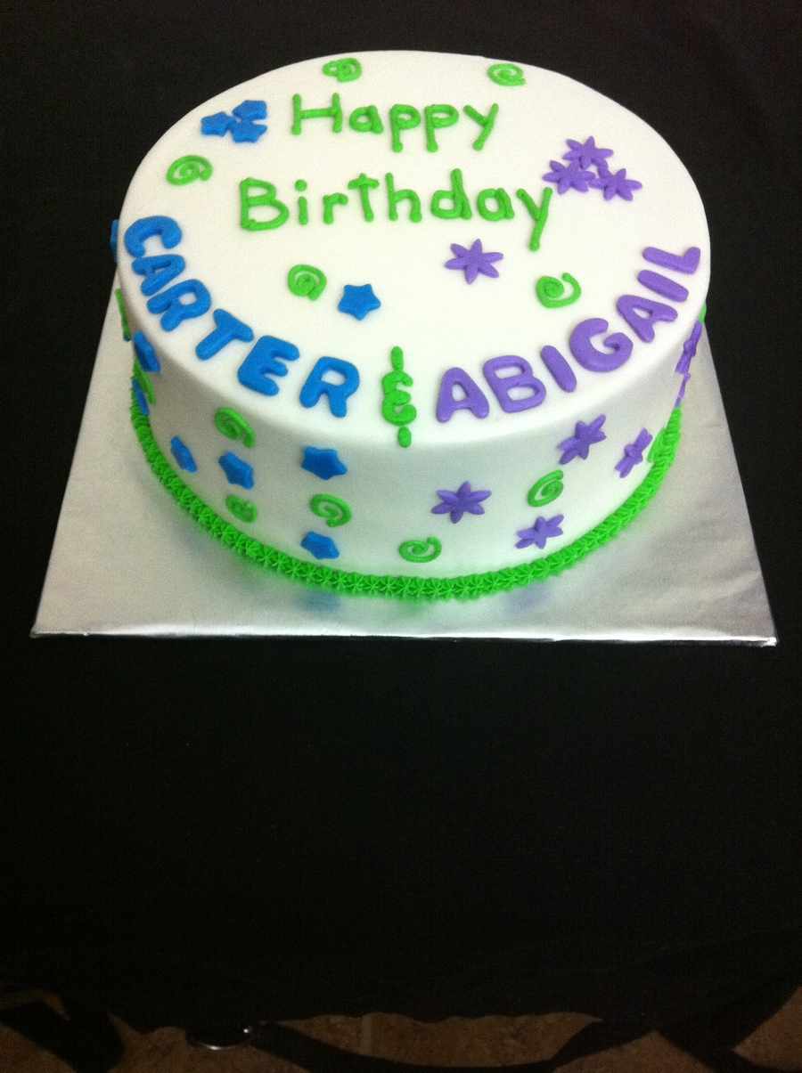 Birthday Cake For Twins Boy Girl Cakecentral Com