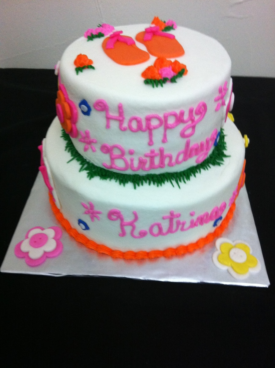 Fantastic Flip Flop Birthday Cake Cakecentral Com Birthday Cards Printable Inklcafe Filternl