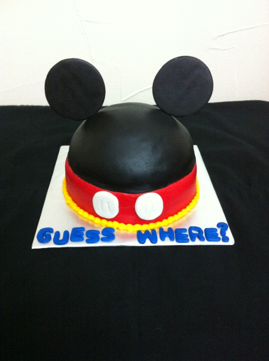 Mickey Mouse Hat Cake For Surprise Trip To Disneyworld! on Cake Central