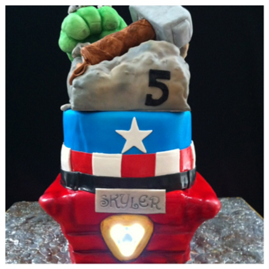 Avengers Theme Cake on Cake Central