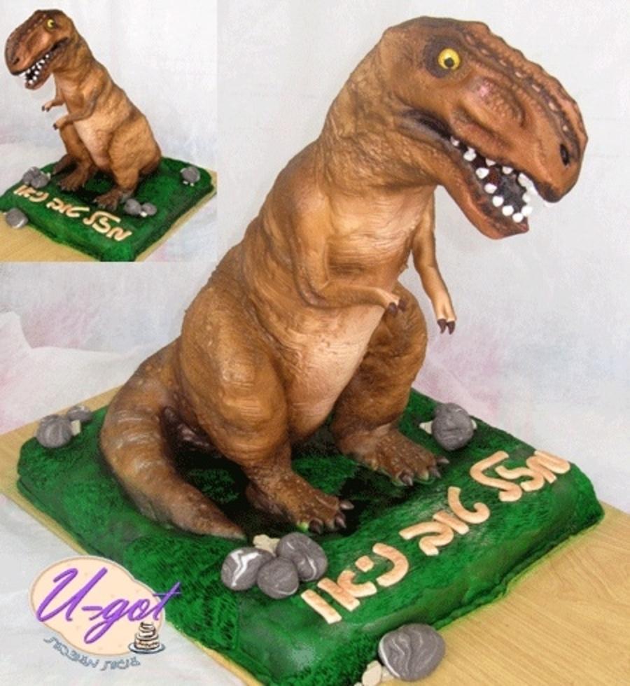 Dinosaur TRex Cake CakeCentralcom