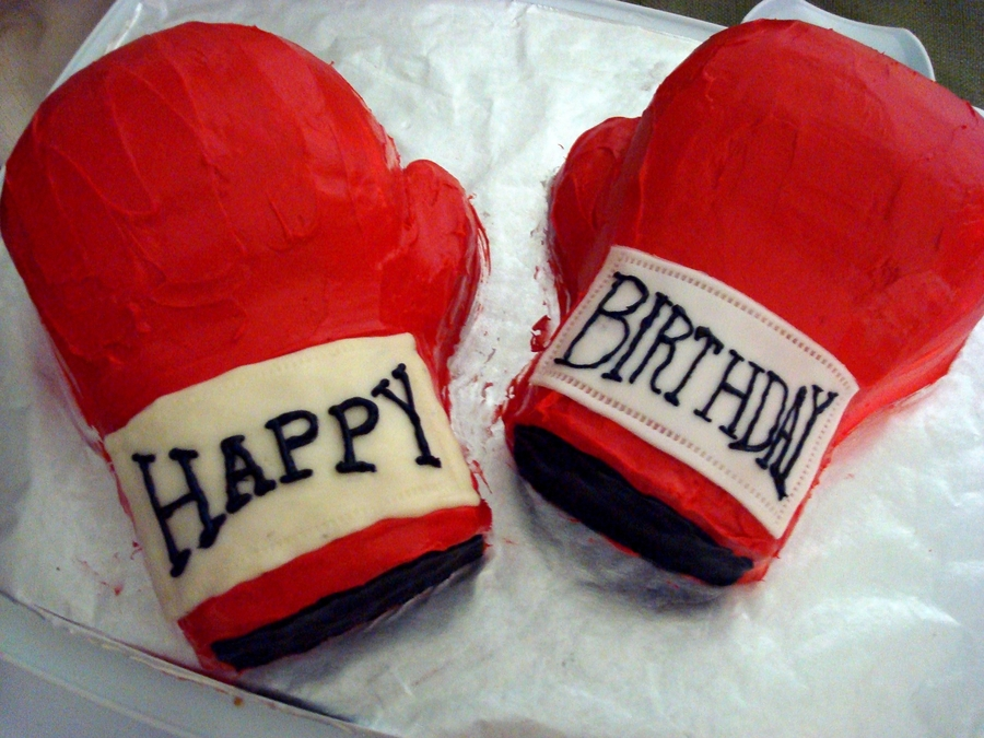 Superb Practice Boxing Gloves Cakecentral Com Funny Birthday Cards Online Hendilapandamsfinfo