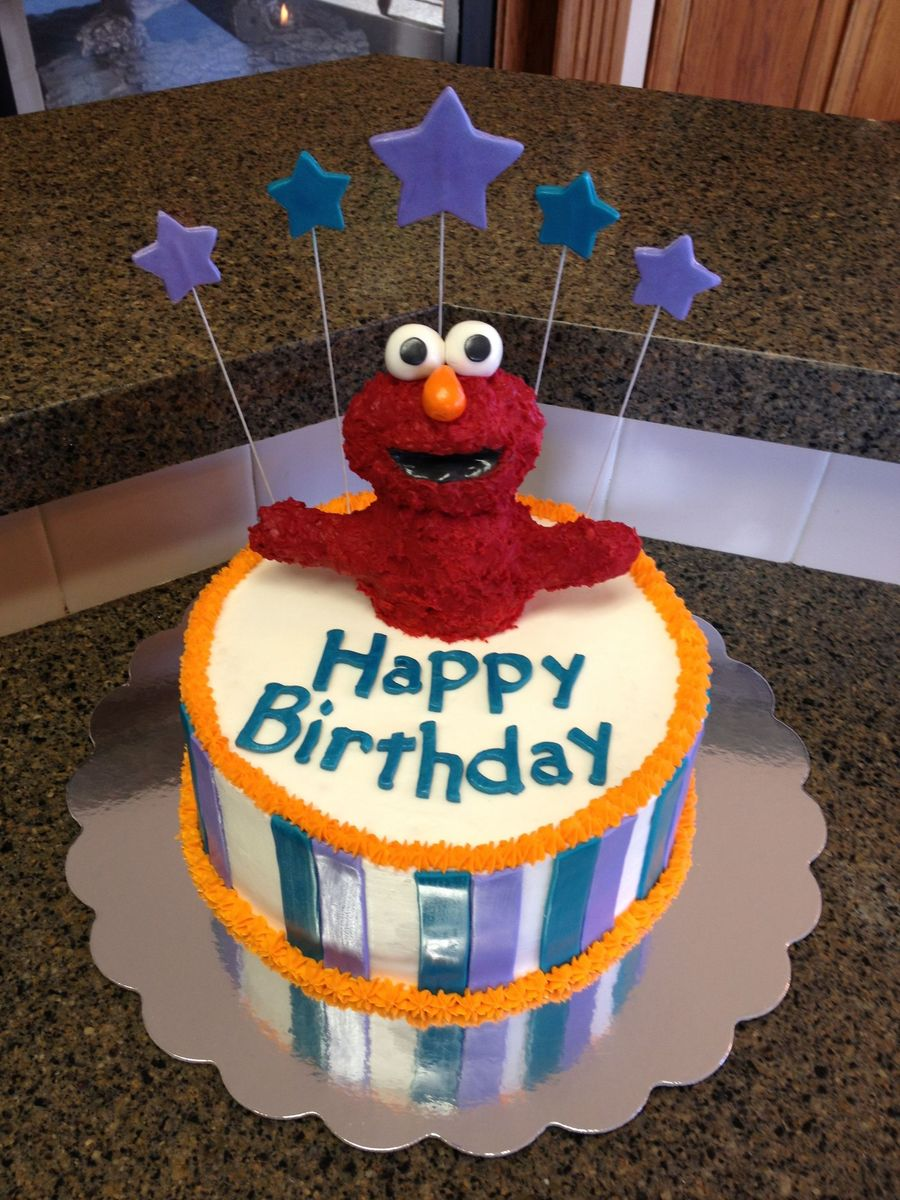 Elmo Was Made From Rice Krispies The Stripes Text And Stars Are Fondant Along With Elmos Eyes Nose And Mouth Lining The Rest Is Butt on Cake Central