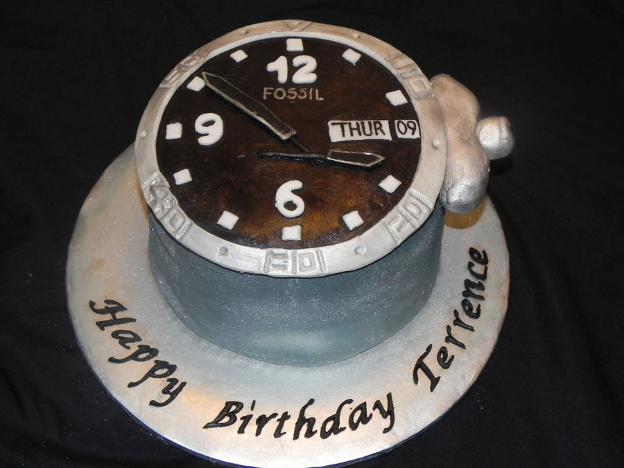 Awe Inspiring Fossil Watch Cake Cakecentral Com Personalised Birthday Cards Arneslily Jamesorg